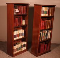 Pair of Open Bookcase - 19th Century in Mahogany (4 of 9)