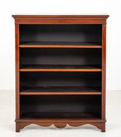 Victorian Mahogany Inlaid Open Bookcase (2 of 8)