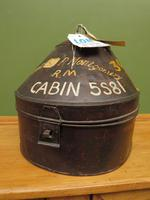Antique Military Hat Tin Trunk, Lieutenant P Montgomery, A Quirky Bread Bin? (8 of 12)