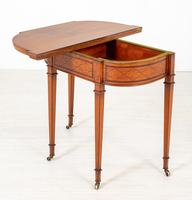 Satinwood Card Table in the Hepplewhite Style (5 of 8)