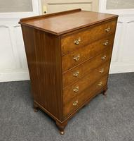 Queen Anne Burr Walnut Chest of 5 Drawers (7 of 12)