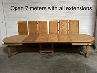 Huge Bleached Oak French Extending Dining Table (4 of 24)