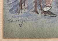 Russian School? Superb 1952 Signed Charcoal Portrait Sketch A Male Model Dancer (8 of 10)