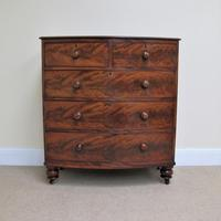 Mahogany Bow Front Chest of Drawers c.1850 (10 of 10)