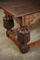 Large 18th Century Carved Oak Dining Table (7 of 21)