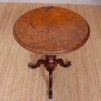 Georgian Walnut Oak Tripod Lamp Table (2 of 10)