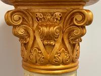 Dutch Golden Age Style Gilt Harvest Relief Plinth Display Torcheres (57 of 87)