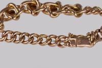 Victorian Garnet Knot & Curb Link 9ct Gold Bracelet with Antique Box c 1890 (11 of 11)