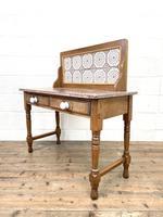Antique Pine Tile Back Washstand (11 of 15)