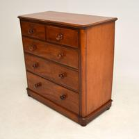 Antique Victorian  Mahogany Chest of Drawers (3 of 10)