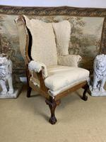 Large Wingback Armchair for Recovering (5 of 10)
