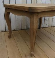 Bleached Oak Extending Draw Leaf Dining Table Desk (2 of 10)