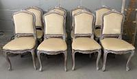 Lovely Set 8 French Dining Chairs (8 of 9)