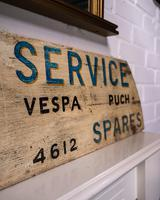 Hand Made Painted Shop Sign for Scooters Lambretta Vespa Puch (4 of 4)