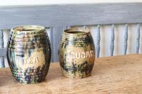 Scottish Pottery Slipware Barrel Storage Jars x4 (9 of 35)