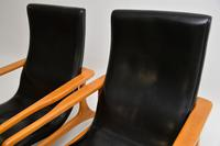 Pair of Vintage Leather Armchairs in the Manner of Vladimir Kagan (11 of 15)