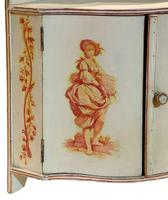 A Painted French Corner Cabinet c1900 (4 of 5)