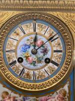 19th Century Ormolu & Painted Porcelain Striking 8-day Mantel Clock (2 of 7)