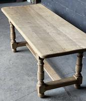 French Bleached Oak Farmhouse Kitchen Table (12 of 25)