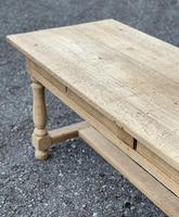 Large Bleached Oak Farmhouse Dining Table with Extensions & Storage (21 of 35)