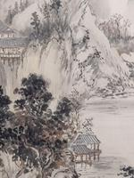 Three Japanese original ink/ watercolour lanscape paintings circa mid. 20th Century (5 of 20)
