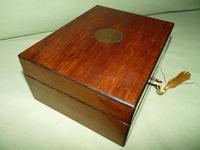 Inlaid Walnut Jewellery Box + Tray c.1875 (3 of 7)