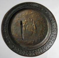 Flemish or German Brass Alms Dish 17th / 18th Century, Grapes of Canaan (6 of 10)