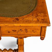 Victorian Walnut Marquetry Writing Table attributed to Edward Holmes Baldock (8 of 17)