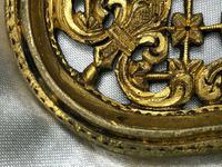 19th Century Antique Regency Gilt Bronze Coat of Arms Sunflower Acanthus Plaque (6 of 12)
