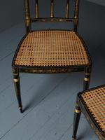 Set of 3 Regency Style Painted Bergere Chairs (10 of 18)