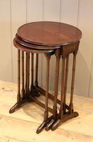 Circular Mahogany Nest of Three Tables (9 of 9)