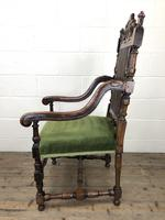 Victorian Carved Oak Armchair (8 of 10)