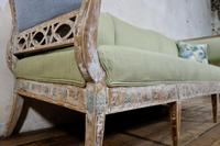 Elegant 18th Century Gustavian Dry Scraped Sofa Lindome c.1790 (7 of 14)