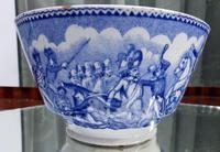 An Extremely Rare Pottery Napoleon Propaganda B&w Commemorative Bowl C.19thc (4 of 12)