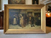 Substantial 19th Century Flemish Oil Painting of Locals in Brugge by Dumont (15 of 21)