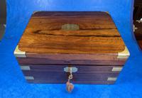 Victorian Brassbound Rosewood Writing Slope (5 of 20)