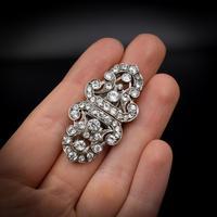 Art Deco Paste Sterling Silver Detachable Dress Clips & Brooch (9 of 9)