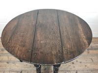Antique 19th Century Small Oak Gateleg Table (5 of 8)