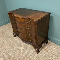 Victorian Mahogany Serpentine Front Antique Chest of Drawers (3 of 6)