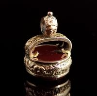 Antique Victorian 9ct Gold Carnelian Seal Fob (4 of 13)
