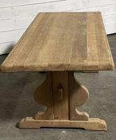 French Oak Trestle Farmhouse Dining Table (3 of 14)