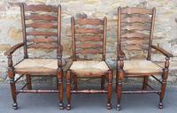 Set of 12 Oak Ladder Back Dining Chairs - Royal Oak Furniture (13 of 15)