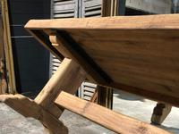 Large French Bleached Oak Trestle Farmhouse Dining Table (16 of 16)