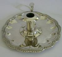 Huge Heavy Mexican Solid Sterling Silver Chamberstick Candlestick Holder c.1930 (5 of 8)