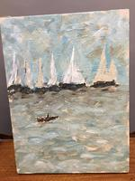 Oil on Canvas - Seascape with Boats (4 of 4)