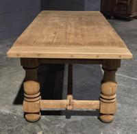 Large Refectory Bleached Oak Farmhouse Table (4 of 17)