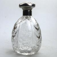 William Comyns - Solid Silver & Rock Crystal Scent Perfume Bottle c.1902
