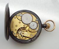 Antique Omega Gun Metal Pocket Watch, 1912 (5 of 5)