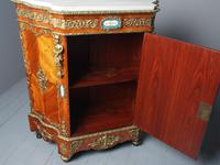 Antique Louis XVI Style Kingwood & Marble Cabinet (15 of 18)