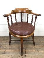 Antique Captain Style Elm Armchair (12 of 12)